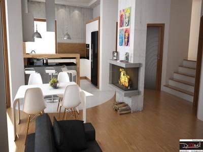 Decor84u Wizualizacja Wnętrza Z Kuchnią I Z Salonem